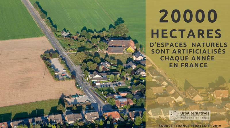 20 000 hectares artificialisés par an, en France
