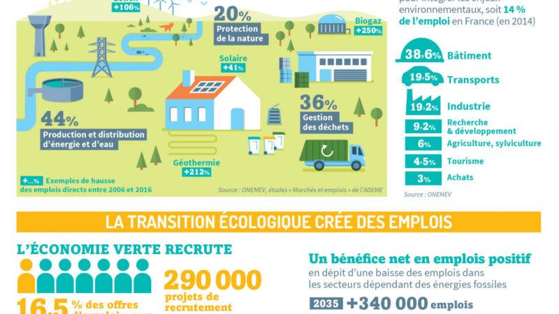 """""""Combien d'emploi grâce à la transition écologique ?"""" [ADEME]"""