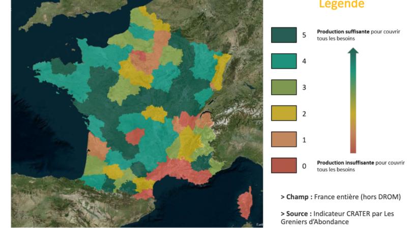 """""""L'adéquation entre la production et les besoins d'un territoire"""" – [CNRA – 1er baromètre de la résilience alimentaire]"""