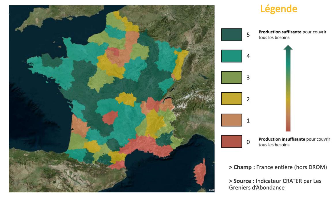 «L'adéquation entre la production et les besoins d'un territoire» – [CNRA – 1er baromètre de la résilience alimentaire]